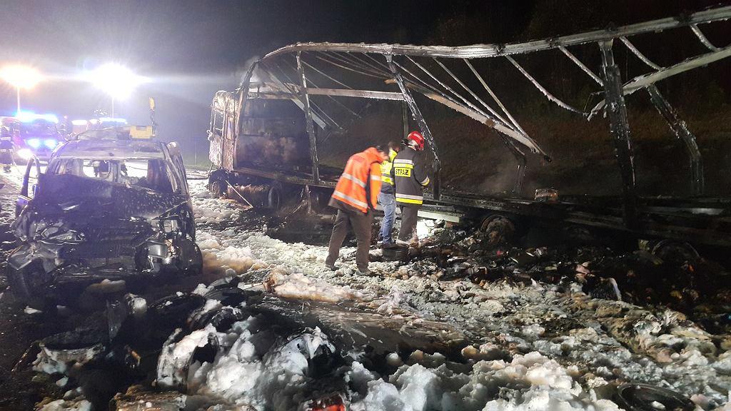 Wypadek na DK1 w Mykanowie