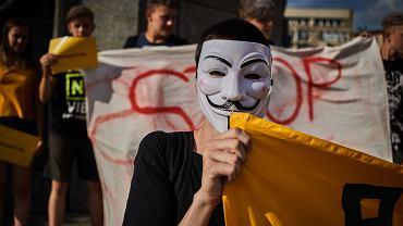 Łódź. Protesty przeciw dyrektywie prawnoautorskiej