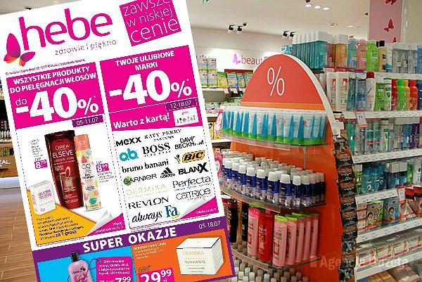 Gazetka Hebe od 5.07 do 18.07 - w promocji kosmetyki do włosów i mnóstwo artykułów do makijażu