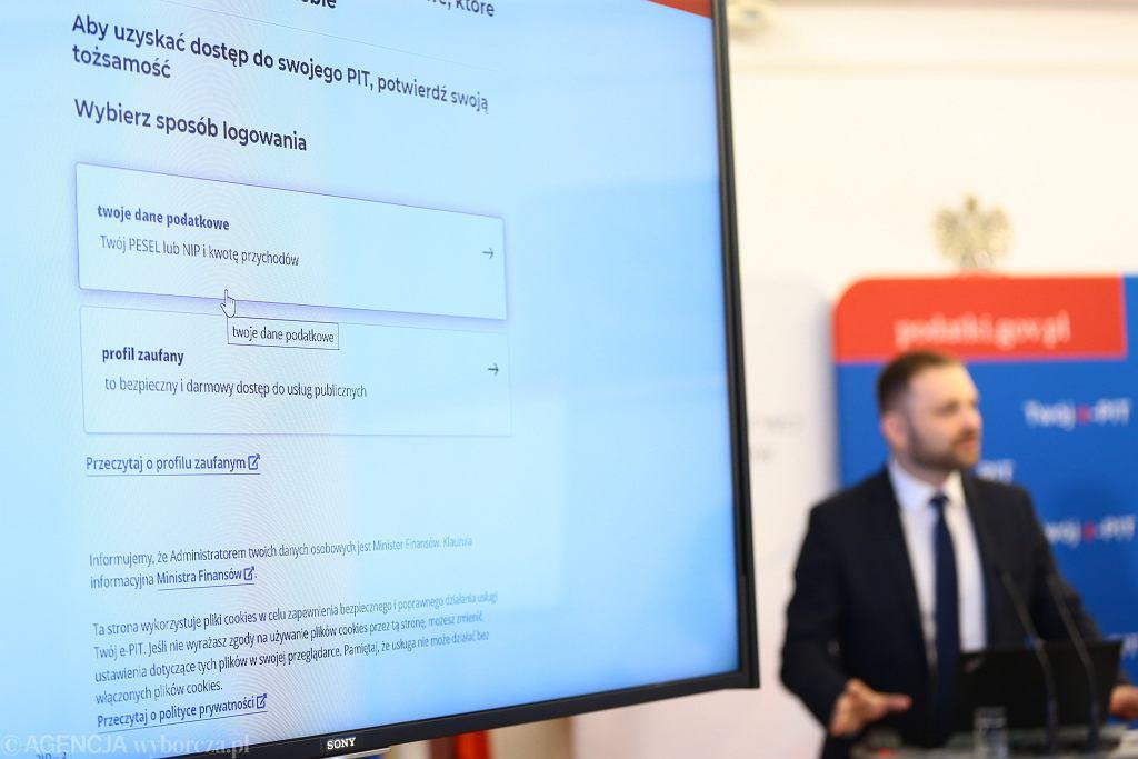 Konferencja prasowa Ministerstwa Finansów w Warszawie w sprawie ePIT