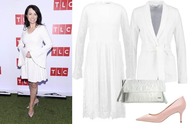Katarzyna Pakosińska - stylizacja z białą sukienką