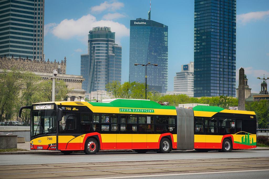 Urbino 18 electric w Warszawie, jeden ze 130 autobusów elektrycznych zamówionych przez MZA w 'kontrakcie stulecia'