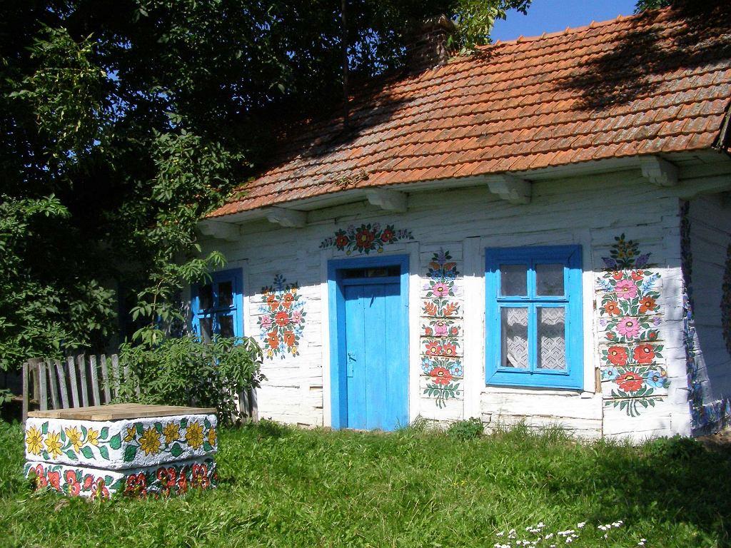 Zalipie - malowany dom / Fot. Andrzej Otrębski, CC BY-SA 3.0