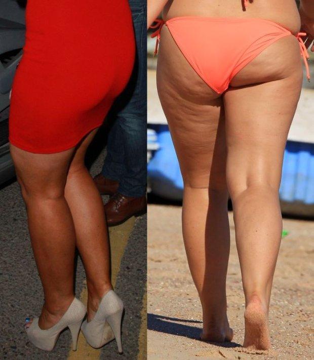 Lauren Goodger w maju 2011 i 27 stycznia 2015 roku