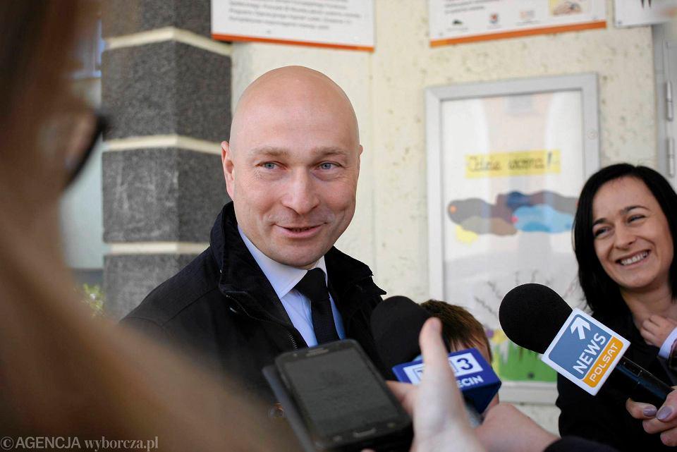 Rafał Zając, zwycięzca wyborów w Stargardzie.