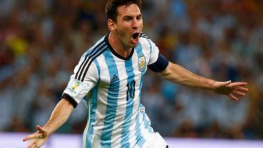 Pierwsza bramka Messiego na mundialu w Brazylii
