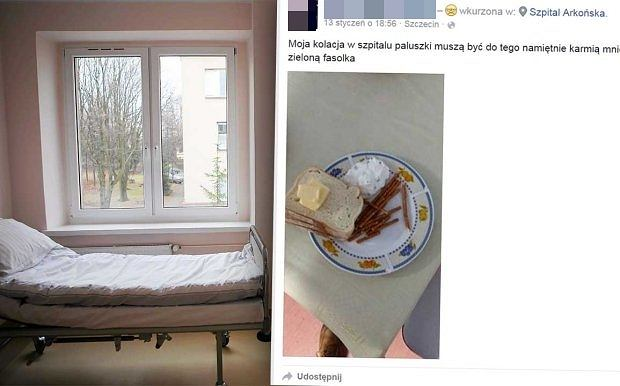 Posiłek w jednym ze szczecińskich szpitali