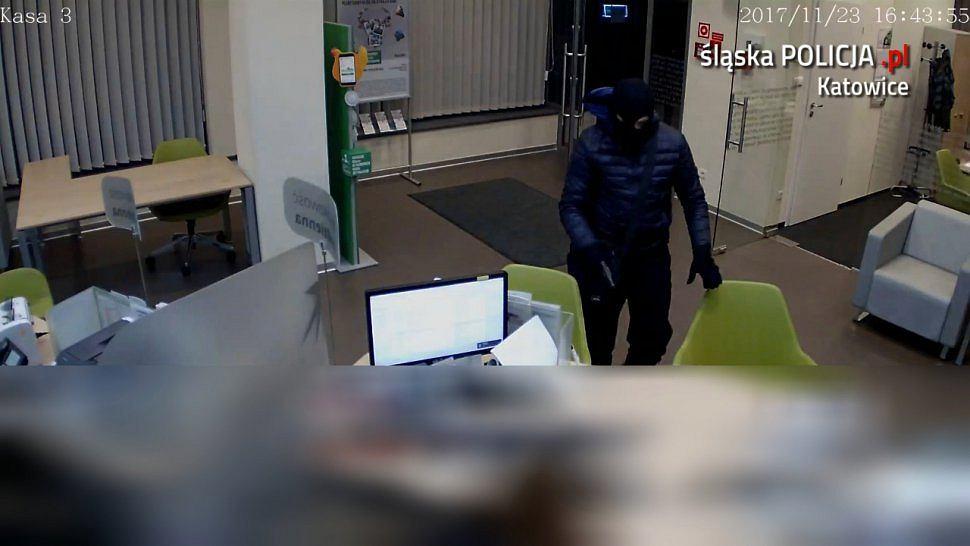 Napad na bank w Katowicach 23.11.2017