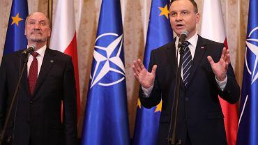 Wspólna konferencja Andrzeja Dudy i Antoniego Macierewicza