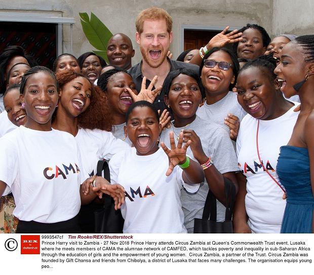 Książę Harry z wizytą w Zambii