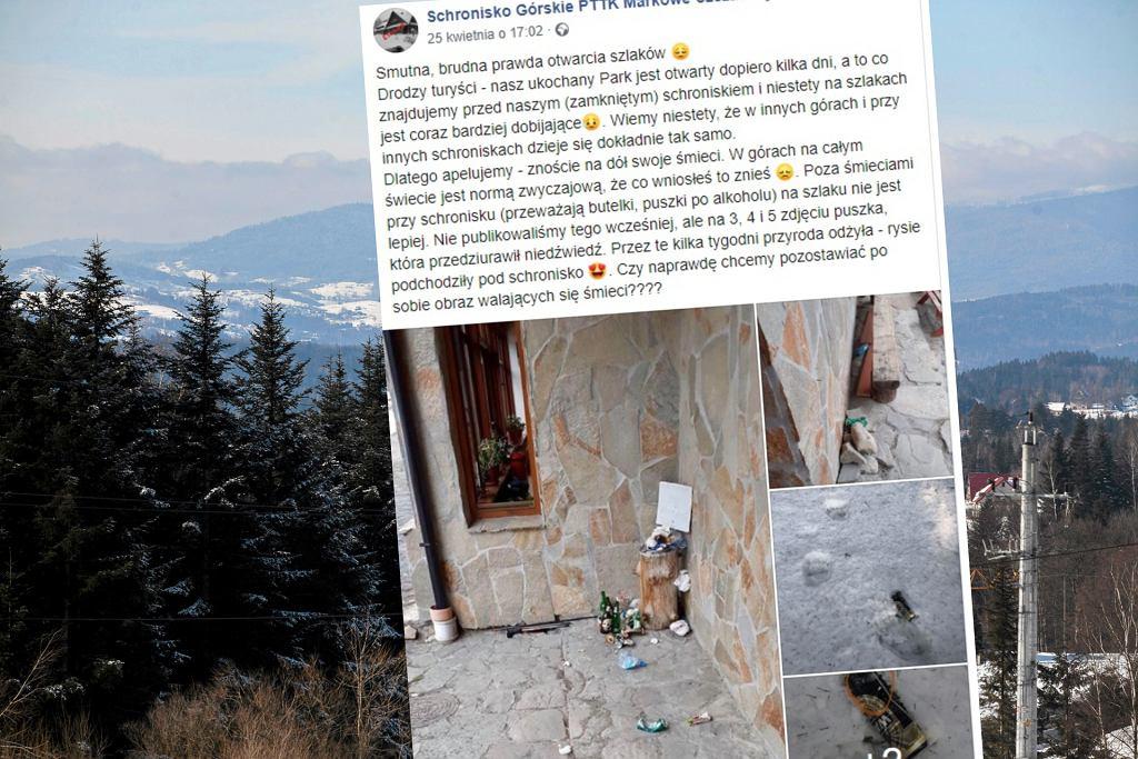 Turyści wrócili na szlaki. Wraz z nimi śmieci