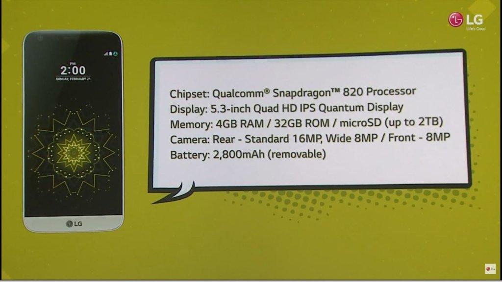 LG G5 - Specyfikacja