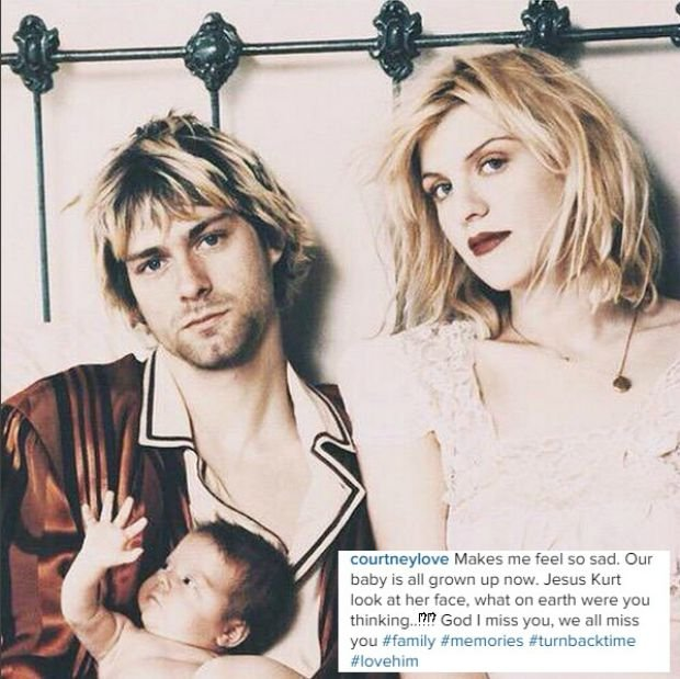 Kurt Cobain, Courtney Love i Frances Bean