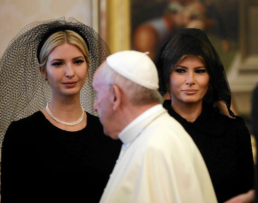 Papież Franciszek, Melania i Ivanka Trump w Watykanie