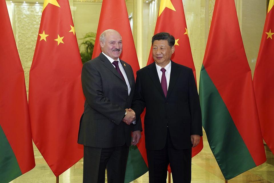 25.04.2019, Pekin, spotkanie premiera Chin Xi Jinpinga z prezydentem Białorusi Aleksandrem Łukaszenką.
