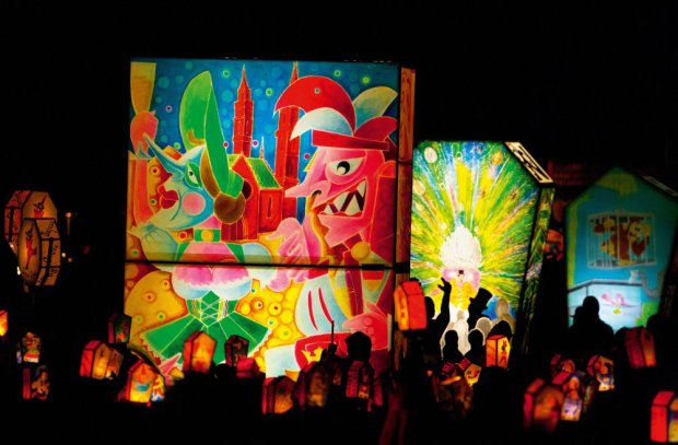Wystawa podświetlonych lampionów na Munsterplatz