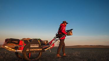 Mateusz Waligóra na pustyni Gobi