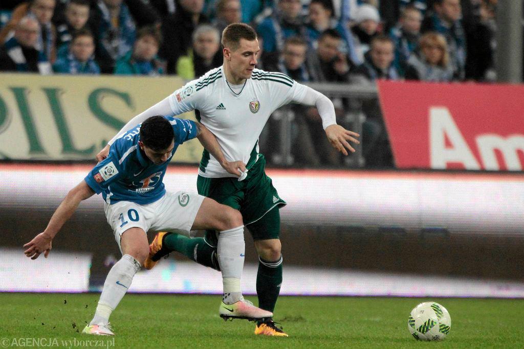 Lech Poznań - Śląsk Wrocław 0:1. Tomasz Hołota i Darko Jevtić