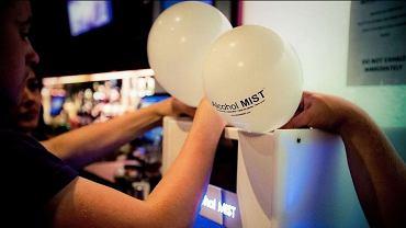 Balony z alkoholem w stanie gazowym