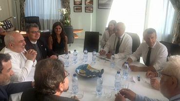 Spotkanie szefa dyplomacji Iranu z prezydentem Francji