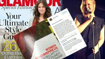"""Amy Schumer nie jest zadowolona z wystąpienia w numerze specjalnym """"Glamour"""". Uważa, że jest na to zbyt szczupła"""