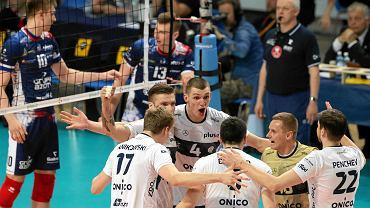 Onico Warszawa podczas drugiego finałowego meczu Plus Ligi w Warszawie
