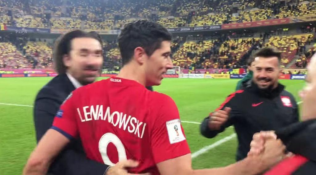 Radość Polski po wygranej z Rumunią