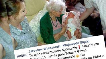 Najstarsza Polka doczekała się praprawnuczki. Dziewczynka przyszła na świat w dniu jej urodzin
