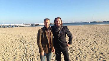 Wizyta przedstawiciela BSWW na plaży w Sopocie