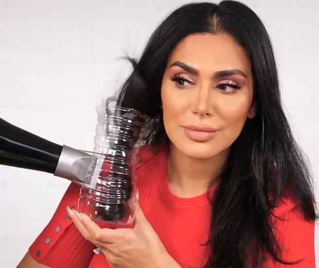 Tania, szybka i prosta metoda na robienie loków za pomocą butelki