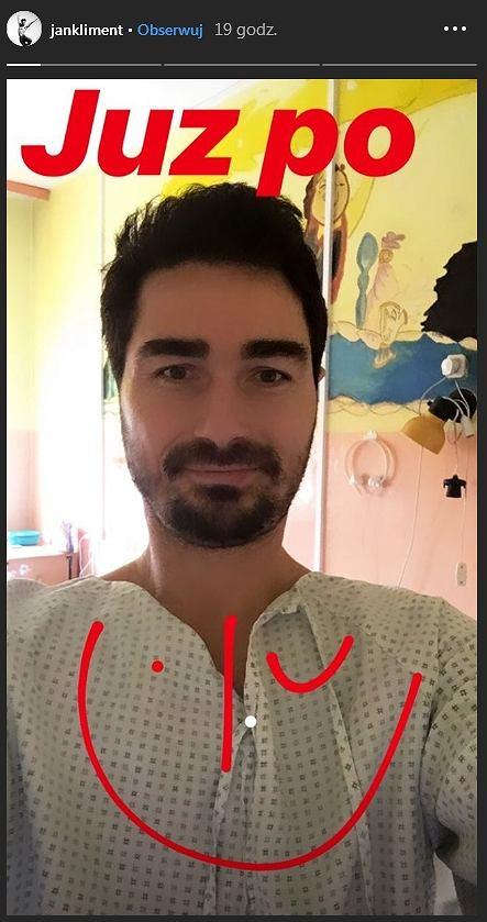 Jan Kliment w szpitalu