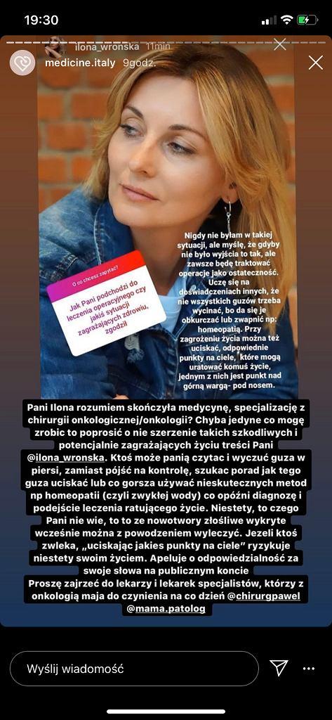 Studentka medycyny miażdży Ilonę Wrońską