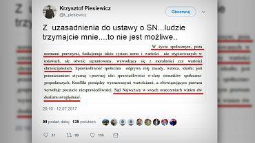 Krzysztof Piesiewicz / Twitter