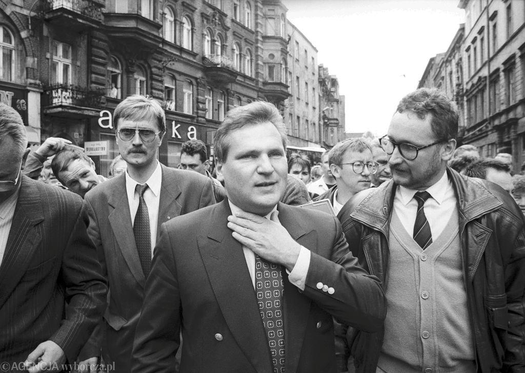 Kampania wyborcza Aleksandra Kwaśniewskiego na Śląsku, 1995 rok.