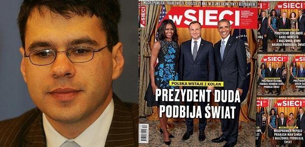 Michał Karnowski/ przeróbki okładki tygodnika ''W Sieci''