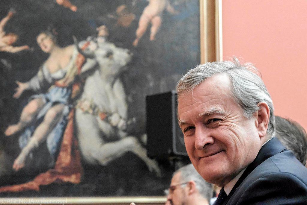 Muzeum Narodowe w Poznaniu. Minister kultury i Dziedzictwa Narodowego Piotr Gliński i były dyrektor MNP prof. Wojciech Suchocki