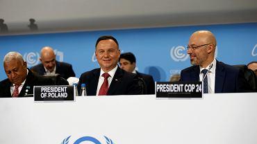 Prezydent Andrzej Duda podczas Szczyt Klimatycznego COP 24. Katowice, 3 grudnia 2018