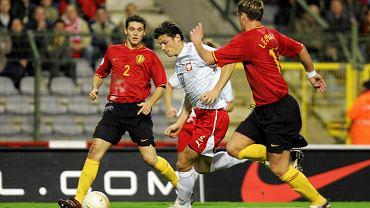 Radosław Matusiak w meczu Polski z Belgią