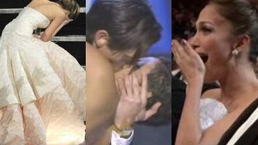 Jennifer Lawrence, Adrien Brody, Halle Berry i Jennifer Lopez