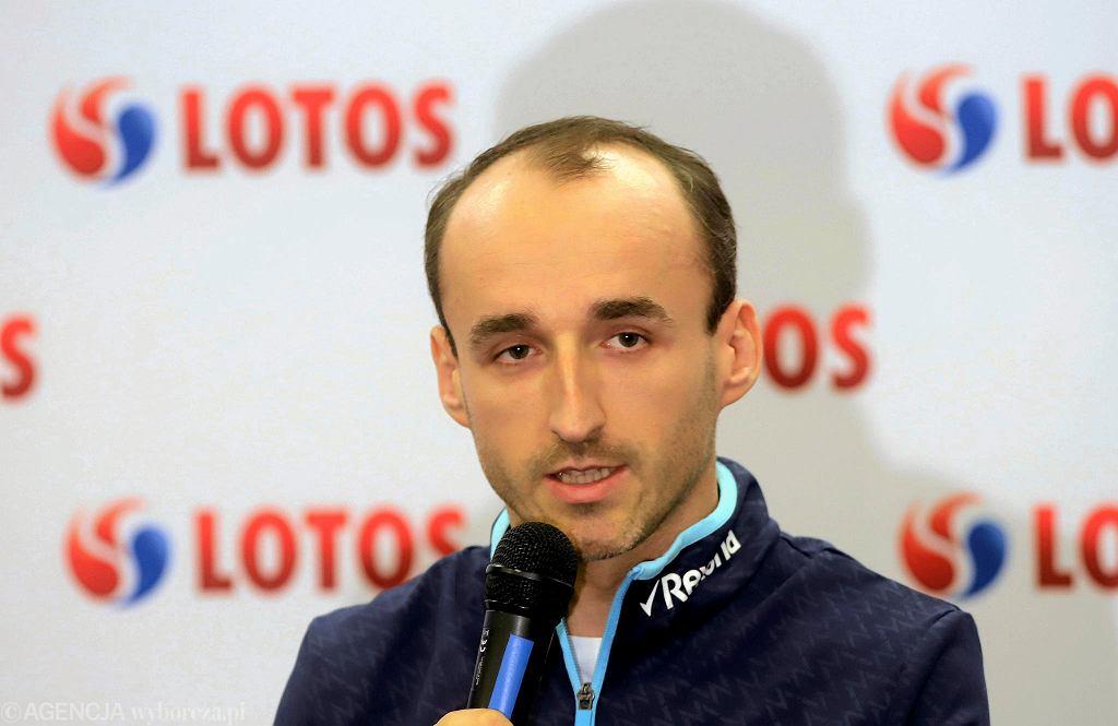Hala Sportowa Częstochowa, 28 grudnia 2018 r. Konferencja prasowa z udziałem Roberta Kubicy