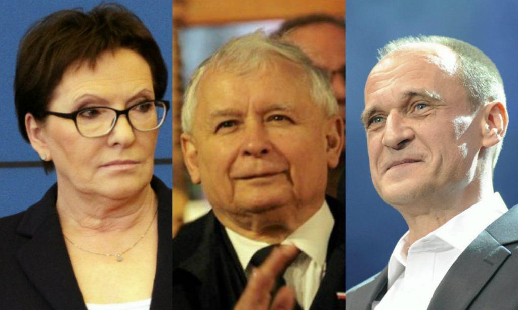 Ewa Kopacz, Jarosław Kaczyński, Paweł Kukiz