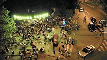 Zycie nocne na Powiślu w Warszawie