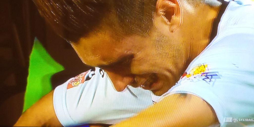 Mica płacze po meczu z Ruchem