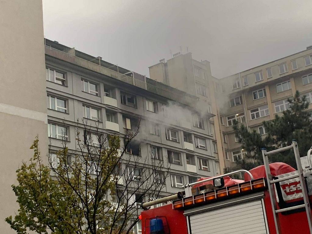 Pożar na warszawskiej Woli
