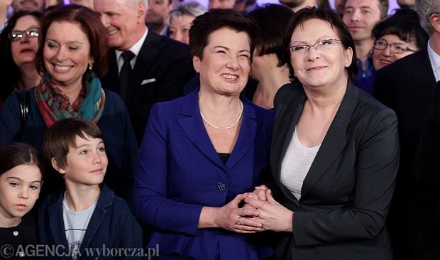 Hanna Gronkiewicz-Waltz i Ewa Kopacz po ogłoszeniu wyników II tury wyborów samorządowych