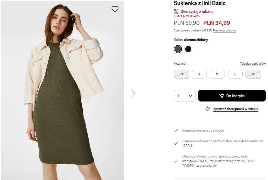 sukienka prążkowana CA