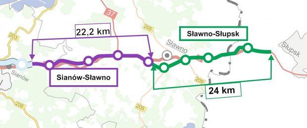 S6 między Koszalinem a Słupskiem