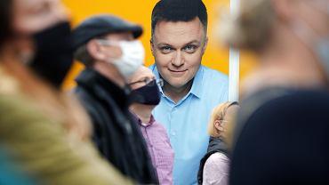 Kampania wyborcza Szymona Hołowni w Częstochowie.
