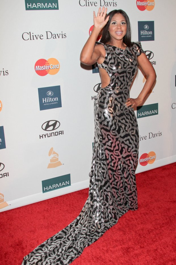 02/11/2012 - Toni Braxton - Clive Davis and the Recording Academy's 2012 Pre-GRAMMY Gala and Salute to Industry Icons Honoring Richard Branson - Arrivals - Beverly Hilton Hotel - Beverly Hills, CA, USA - Keywords:  Orientation: Portrait Face Count: 1 - False - Photo Credit: Andrew Evans  / PR Photos - Contact (1-866-551-7827) - Portrait Face Count: 1