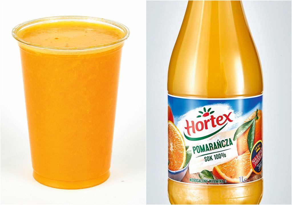 Sok świeżo wyciskany vs sok z butelki 100%